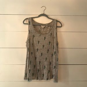 🎉5 for $25 sale🎉 Cute linen cactus tank